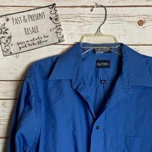 Puritan Blue Button Shirt Size 16 1/2